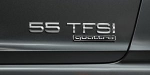 Audi 55 TFSI engine badge