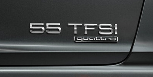 Audi 55 TFSI engine badge