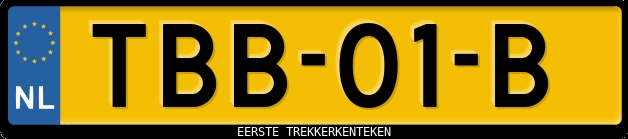 Eerste trekkerkenteken TBB-01-B